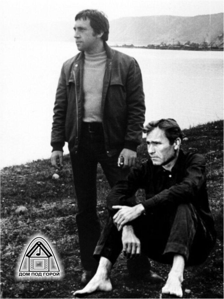 Высоцкий и Шукшин. Коллаж.